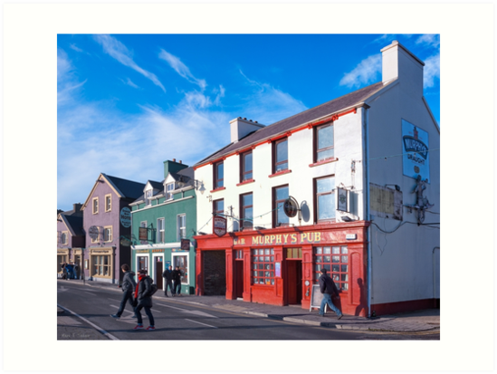 Walking The Sunny Streets Of Dingle Ireland by Mark Tisdale