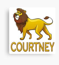 Courtney Lion Drawstring Bags Canvas Print