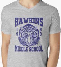 Hawkins Middle School (mugs, shirts, and more merch) Men's V-Neck T-Shirt