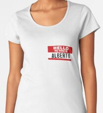 Hello My Name Is Alberto Name Tag Women's Premium T-Shirt