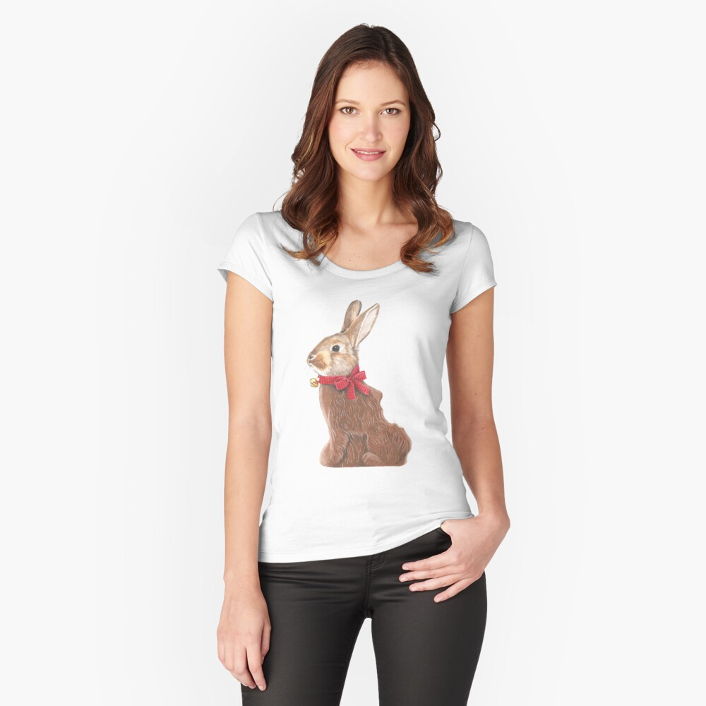 Hoppy Easter Women's Fitted Scoop T-Shirt Front