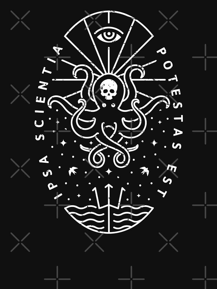 Knowledge - White/Skull by rfad