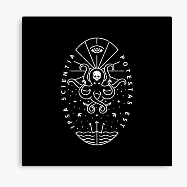 Knowledge - White/Skull Canvas Print