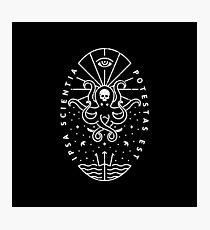Knowledge - White/Skull Photographic Print