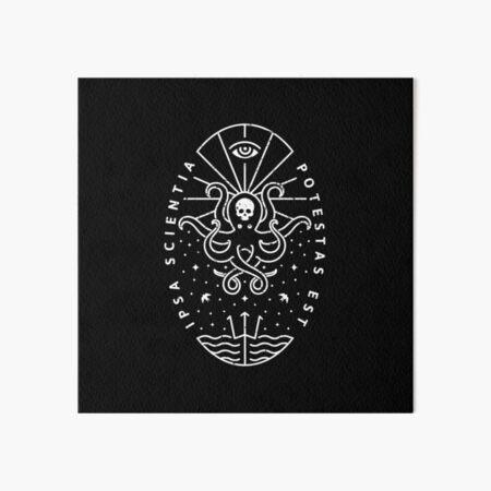 Knowledge - White/Skull Art Board Print