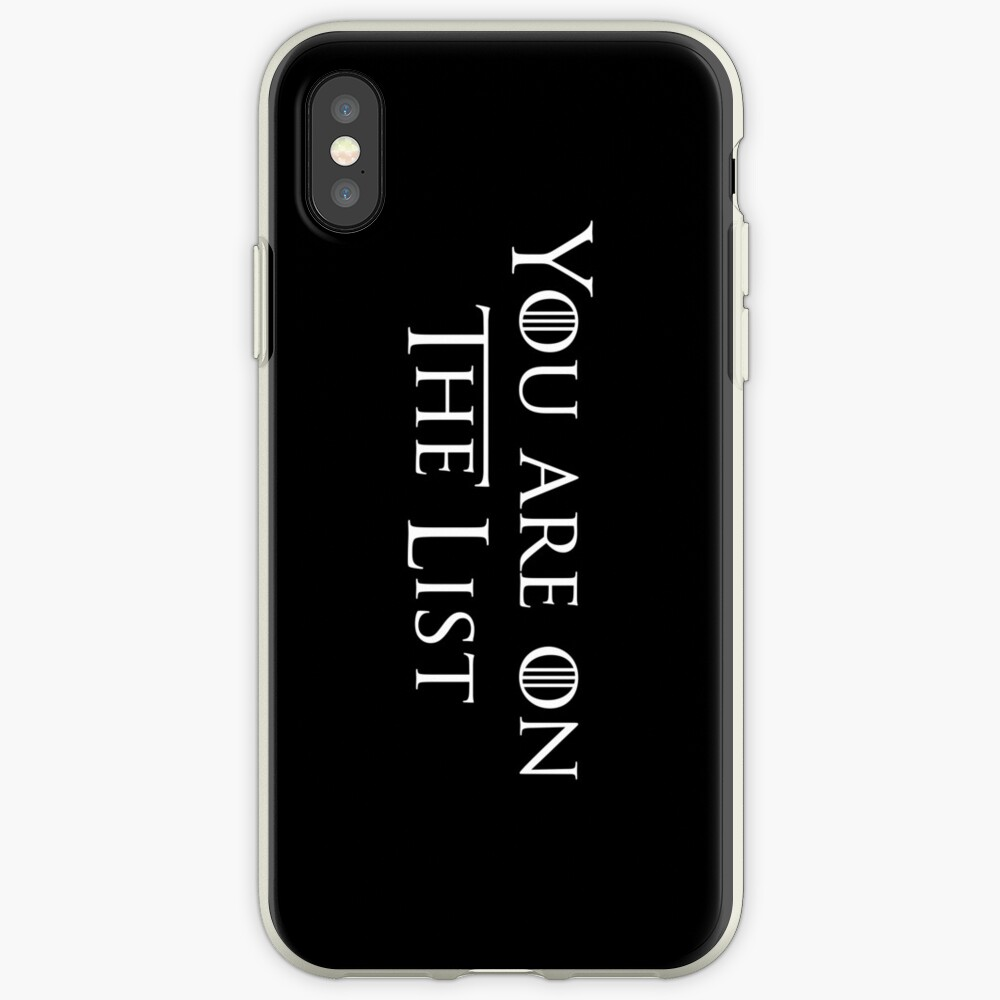 You're on the list iPhone Case & Cover