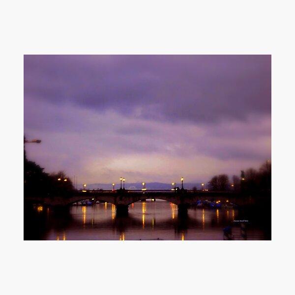 ZURICH - Bridge over Limmat Fotodruck