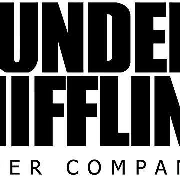 Dunder Mifflin Logo- B/W by pickledbeets