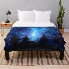 Nachthimmel Fleecedecke