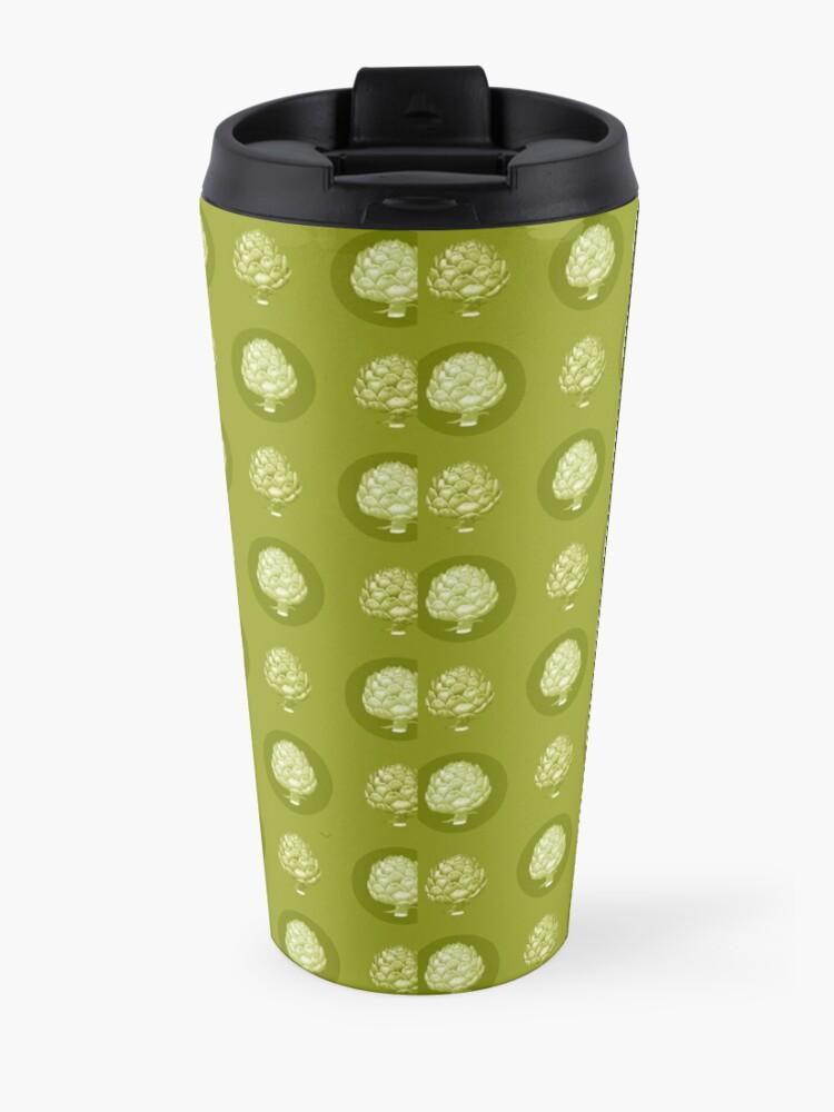Alternate view of Artichoke Pattern Travel Mug