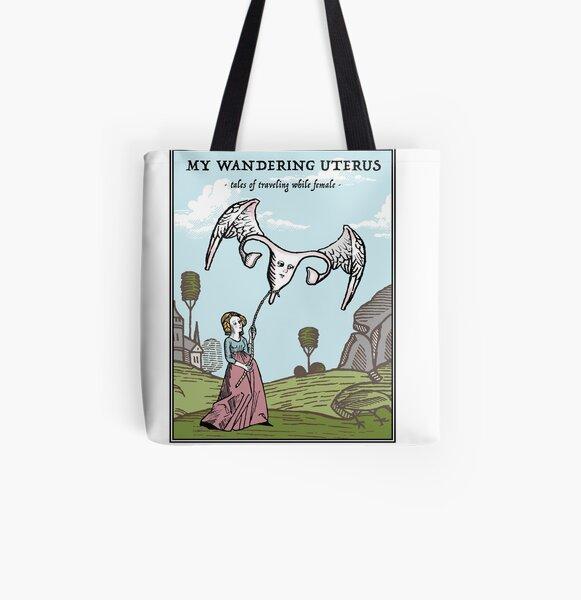 My Wandering Uterus All Over Print Tote Bag