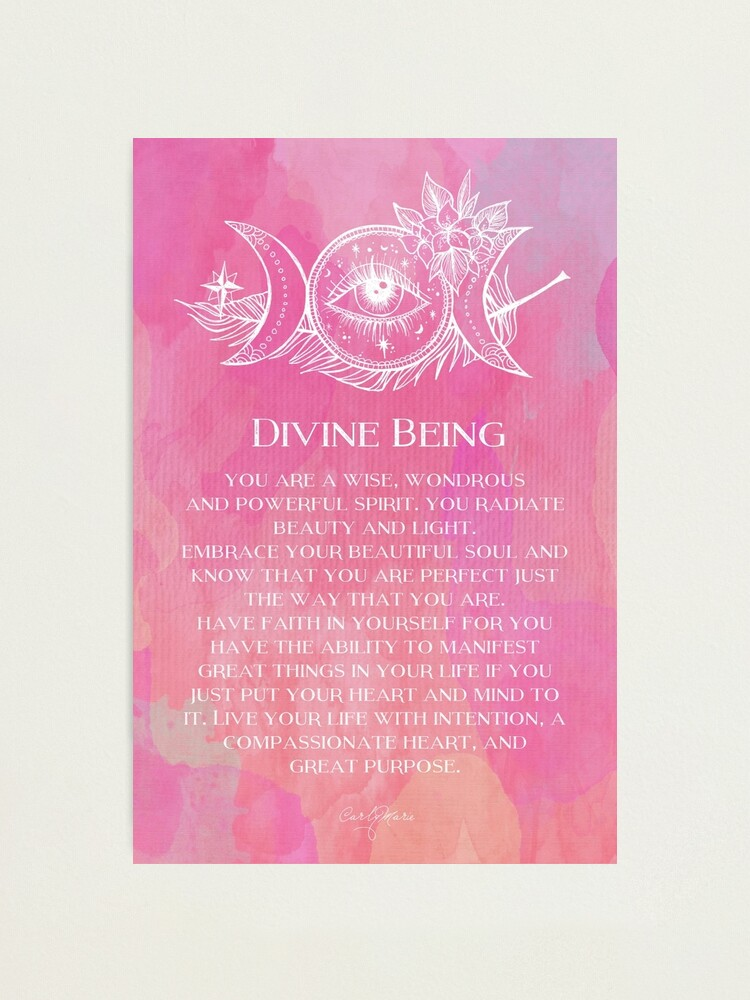 Alternate view of Divine Being Photographic Print