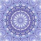Light Blue, Lavender and White Mandala 02 by Kelly Dietrich