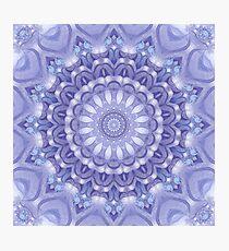Light Blue, Lavender and White Mandala 02 Photographic Print