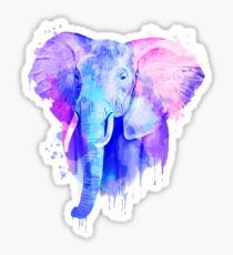 Elefant, Aquarell Elefant Sticker