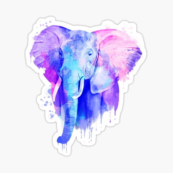 Elephant, Watercolor Elephant Sticker
