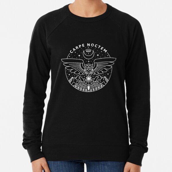 Carpe Noctem / White Lightweight Sweatshirt