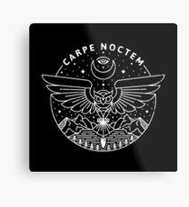Carpe Noctem / White Metal Print