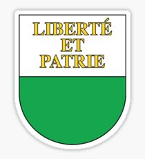 Coat of Arms of Vaud Canton Sticker