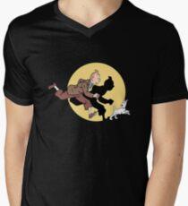 TIN TIN THE MOVIE Men's V-Neck T-Shirt