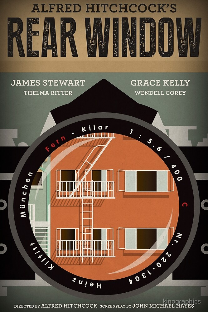 Rear Window alternative movie poster by kinographics