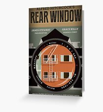 Rear Window alternative movie poster Greeting Card