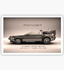 Roads ? Back to the future  Sticker