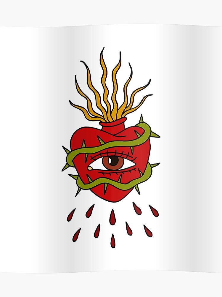 315ea4cbd sacred heart illustration traditional tattoo flash