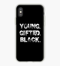 Young. Gifted. Black iPhone Case