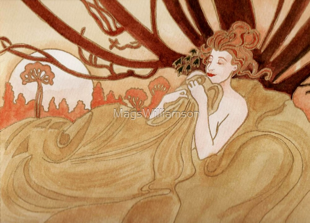 Dusk (after Mucha) by MagsWilliamson