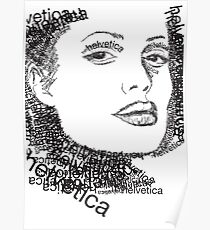 Jolie and helvetica Poster