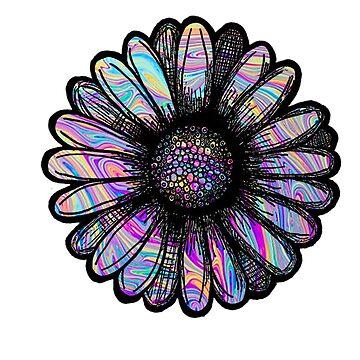Flor de remolino de arco iris de adjsr