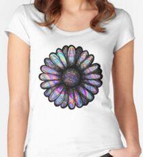 Rainbow Swirl Flower Women's Fitted Scoop T-Shirt