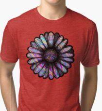Rainbow Swirl Flower Tri-blend T-Shirt