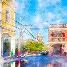 Reflecting On The Colorful Streets Of Granada - Nicaragua by Mark Tisdale