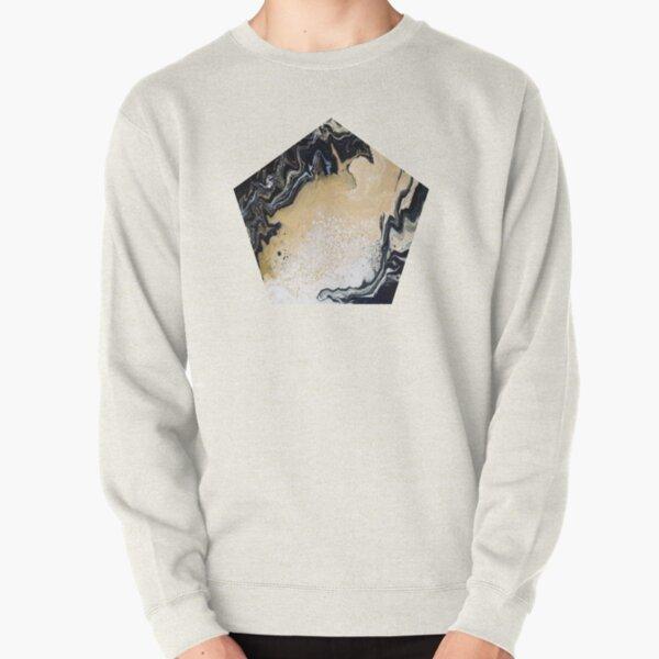 Black Gold Acrylic Pour Pullover Sweatshirt