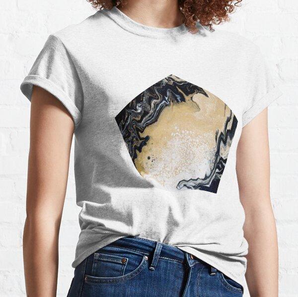 Black Gold Acrylic Pour Classic T-Shirt
