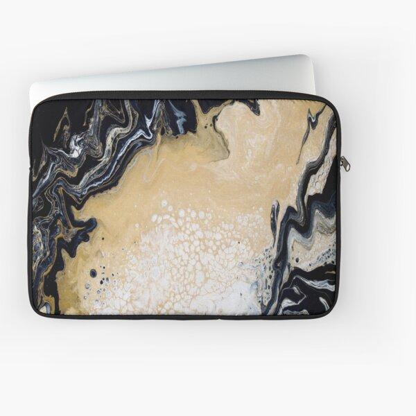Black Gold Acrylic Pour Laptop Sleeve