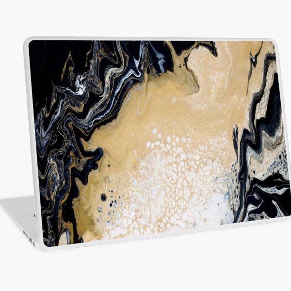 Black Gold Acrylic Pour Laptop Skin