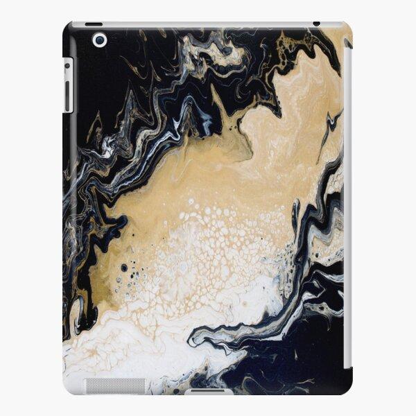 Black Gold Acrylic Pour iPad Snap Case