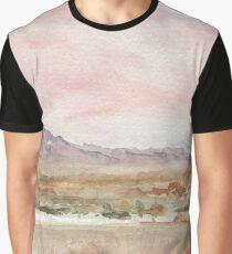 Rosa Himmelslandschaft Grafik T-Shirt
