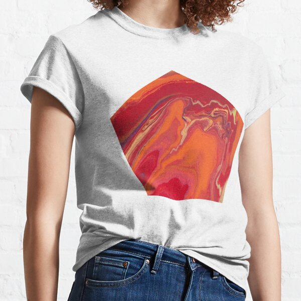 Sunset Geode Acrylic Painting Classic T-Shirt
