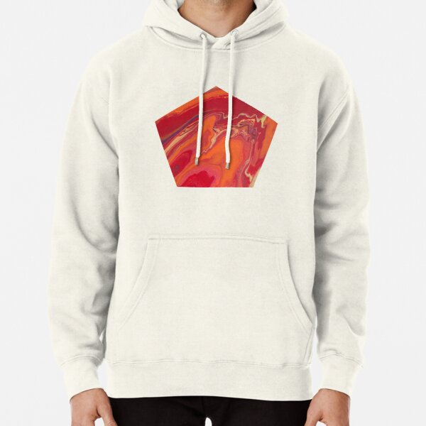 Sunset Geode Acrylic Painting Pullover Hoodie