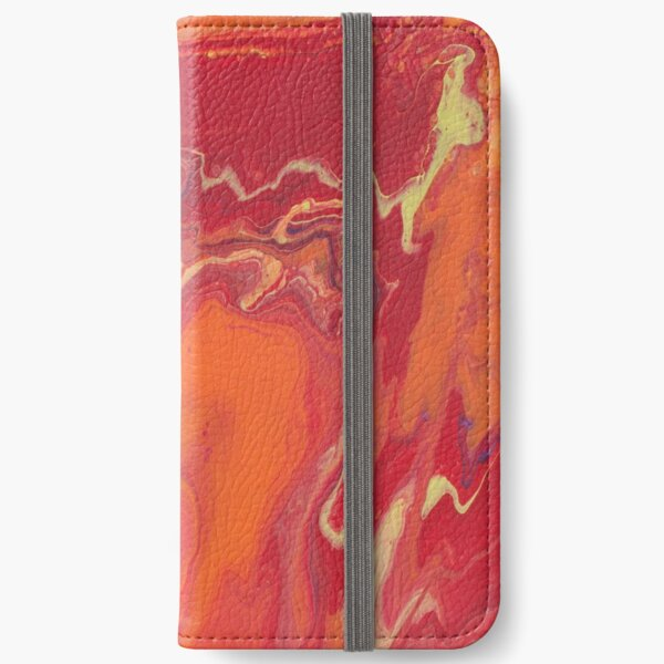 Sunset Geode Acrylic Painting iPhone Wallet