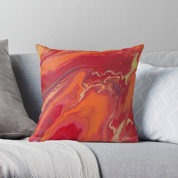 Sunset Geode Acrylic Painting Throw Pillow