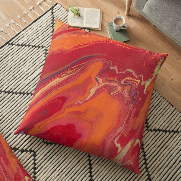 Sunset Geode Acrylic Painting Floor Pillow