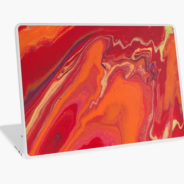 Sunset Geode Acrylic Painting Laptop Skin