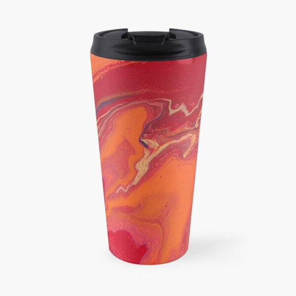 Sunset Geode Acrylic Painting Travel Mug