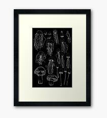 Transitioning Mushrooms (Inverted) Framed Print