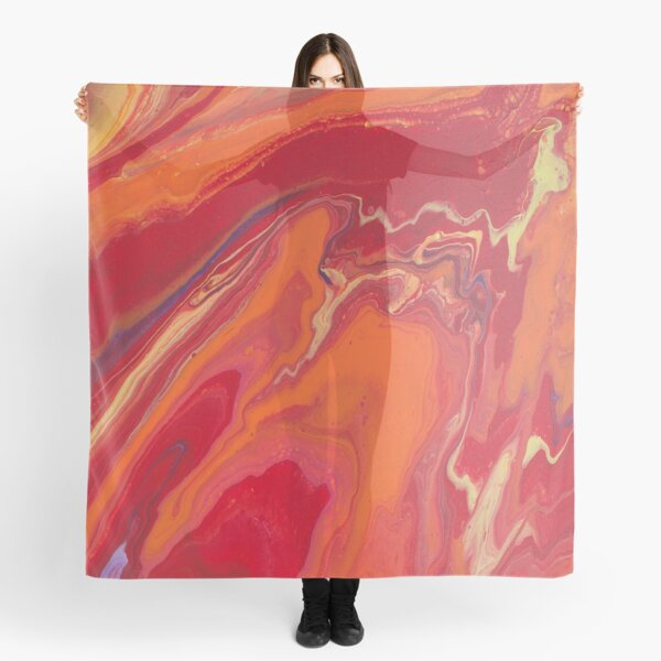 Sunset Geode Acrylic Painting Scarf
